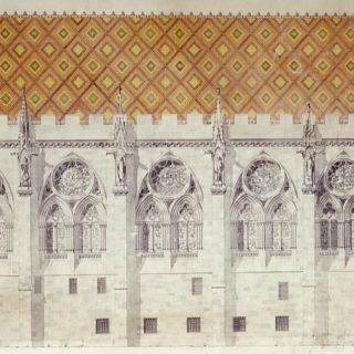 Palais Synodal - dessin de Lefort, cl. Musées de Sens