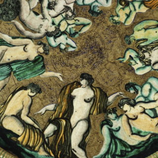 Jean Mayodon, Plat au décor d'hommes, de nymphes et de tritons