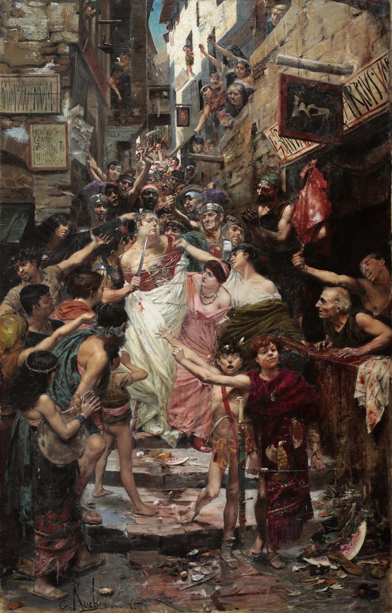 G.-A. Rochegrosse - Vitellius traîné dans les rues de Rome, cl. Musées de Sens - E. Berry