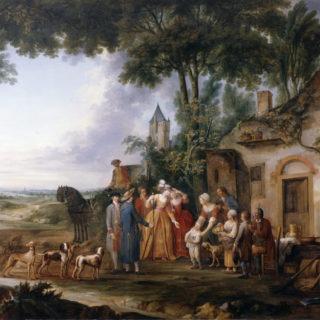 Watteau de Lille, La visite à la ferme, cl. Musées de Sens - E. Berry