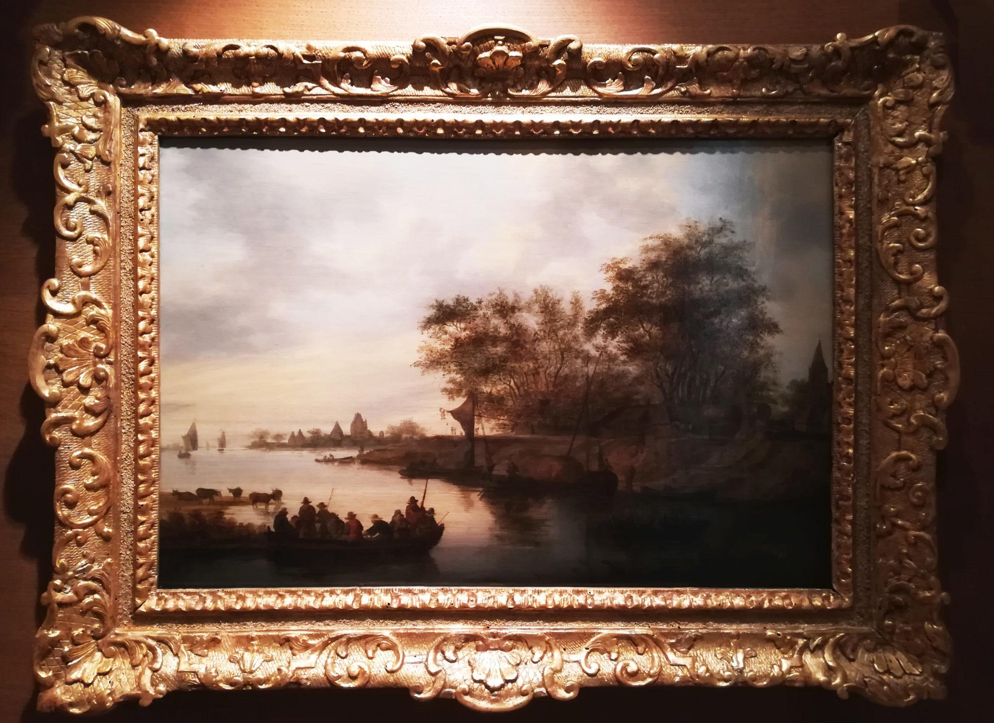 Van Ruysdael, Paysage avec barques, cl. Musées de Sens - E. Berry