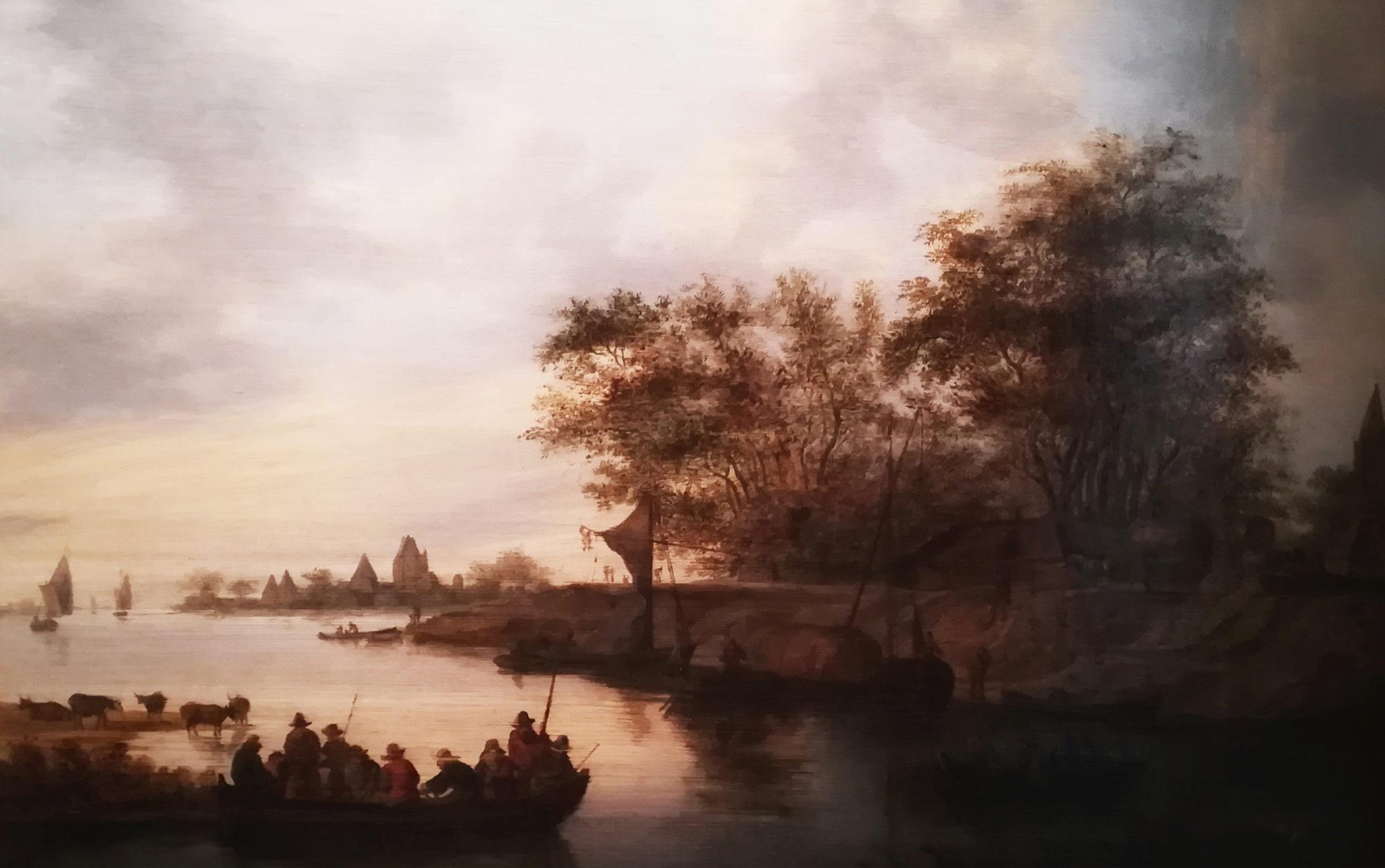 Van Ruysdael, Paysage avec barques, cl. Musées de Sens