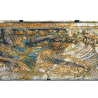 La Madeleine dans le désert, anonyme, 1567, bas-relief polychrome, Église Saint-Maurice. Cl. H. Letourneur