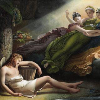 Les grâces visitent Daphnis - Hersent. Cl. Musées de Sens - E. Berry